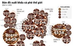 Bản đồ xuất khẩu cà phê thế giới