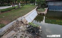 Ảnh: Khối bê tông đúc sẵn nặng 2,5 tấn để kè Hồ Gươm có gì đặc biệt?