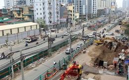 Thi công đường Vành đai 2 đoạn qua cầu Mai Động, các phương tiện đi lại thế nào?