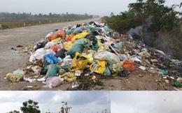 Rác thải chất đống trên đê chống lũ ở Hà Tĩnh: Chính quyền vào cuộc xử lý