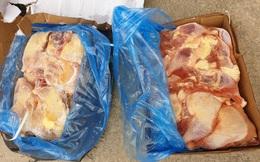 Ngăn chặn hàng trăm kg thịt lợn, gà không rõ nguồn gốc đang trên đường tiêu thụ