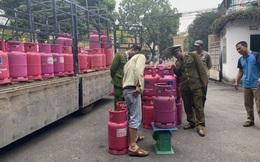 Tạm giữ hàng trăm chai LPG mang nhãn hiệu Petro Vietnam để xác minh làm rõ