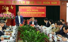 Trưởng ban Kinh tế Trung ương Nguyễn Văn Bình: Hải Dương cần xác định là tỉnh phát triển công nghiệp