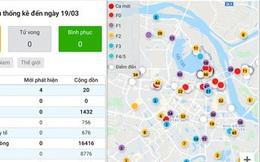 Cài ngay ứng dụng này để xem các trường hợp F0 nhiễm Covid-19 ở Hà Nội có gần khu vực nhà bạn không
