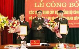Hà Tĩnh: Công bố các quyết định của Bộ Công an về công tác cán bộ