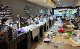 Đài truyền hình Mỹ ca ngợi loạt tiệm nail Việt Nam ủng hộ găng tay, khẩu trang cho các bệnh viện và mở xưởng may đồ bảo hộ cho nhân viên y tế