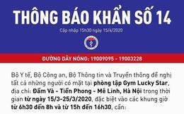 Bộ Y tế thông báo khẩn tìm người tập gym tại Đầm Và - Hà Nội