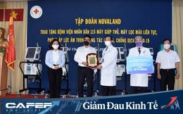 Tập đoàn Novaland tặng máy thở, máy lọc máu và phòng áp lực âm trị giá 10 tỷ đồng phòng, chống dịch Covid-19