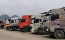 Còn khoảng 1.180 xe hàng đang tồn ứ tại các tỉnh giáp Trung Quốc