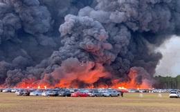 Cháy lớn tại sân bay Florida, Mỹ khiến 3.500 phương tiện bị hư hại