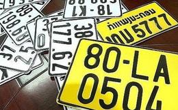 Thế giới đăng ký màu biển số xe ra sao?