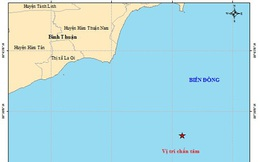 Xảy ra động đất ngoài khơi Bình Thuận