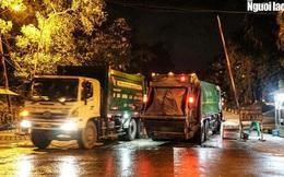 """CLIP: Xe chở rác hoạt động """"xuyên màn đêm"""" để """"giải cứu"""" Hà Nội khỏi ùn ứ rác thải"""