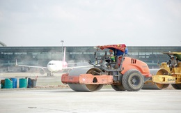 Đại công trường hơn 2000 tỷ cải tạo đường băng sân bay Quốc tế Nội Bài