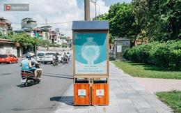 Thùng rác công nghệ với tấm pin mặt trời trên đường phố Hà Nội: Truyền cảm hứng bảo vệ môi trường đến người dân