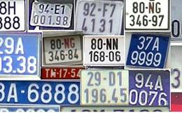 Cách phân biệt các loại biển số xe từ 1/8