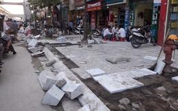 Hà Nội yêu cầu nâng tiêu chuẩn đá lát vỉa hè