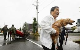 Chùm ảnh: Nhật Bản tan hoang khi lũ lớn càn quét giữa thời điểm 'bóng ma' của đại dịch Covid-19 vẫn đang hiện diện