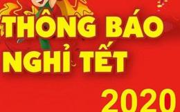 Lịch nghỉ Tết Nguyên đán Canh Tý 2020 chính thức của công chức, viên chức