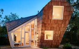 Ngôi nhà 'tổ ong' nghiêng như sắp đổ vẫn đẹp long lanh