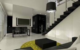 Căn hộ nội thất màu đen vô cùng huyền bí và sang trọng