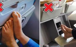 Chúng ta không nên cởi giày, dép ra khi máy bay cất cánh hoặc hạ cánh: Chuyện tưởng như không có gì nhưng lại rất nghiêm trọng