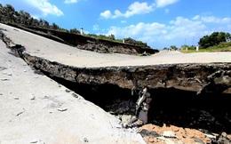 Kinh hoàng sụp lún, sạt lở đất chưa từng thấy ở Cà Mau