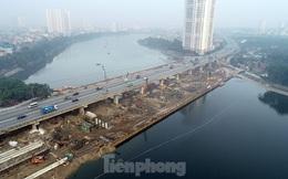Cận cảnh công trình cầu vượt hồ Linh Đàm xóa điểm ùn tắc lớn nhất Hà Nội