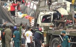 Xe tải biến dạng khi đâm vào đuôi xe container ở Sài Gòn, 3 người trong cùng gia đình tử vong