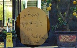"""[Ảnh] Nhiều cửa hàng treo biển """"mong khách thông cảm, nghỉ bán hàng"""" nơi bệnh nhân 50 nhiễm Covid-19 sinh sống ở Hà Nội"""