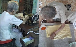 Mẹ Việt Nam anh hùng 95 tuổi may khẩu trang hỗ trợ phòng dịch Covid-19