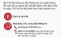 Khẩn: 3 việc cần làm của tất cả những ai đã đến Bệnh viện Bạch Mai từ ngày 12/3