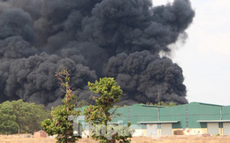 Cháy kinh hoàng trong công ty gỗ ở Bình Dương