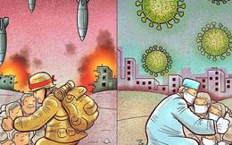 Bộ tranh ấn tượng về những người tuyến đầu chống Covid-19: Dù virus là kẻ thù vô hình nhưng cuộc chiến vẫn quá tàn nhẫn và có nhiều sự hy sinh!