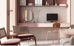 Căn hộ sành điệu với gam màu hồng đơn sắc