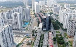 Ken đặc chung cư trên con đường ngoại ô Sài Gòn nhìn từ trên cao