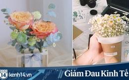 """Sáng tạo của các shop hoa """"sống chung"""" với Covid-19: Vừa giúp mình đứng vững vừa mang niềm vui đến tận nhà cho khách, thấy ấm lòng!"""
