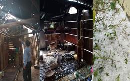 Mưa đá to bằng quả trứng, quả xoài ở Nghệ An khiến hàng trăm mái nhà thủng tan hoang