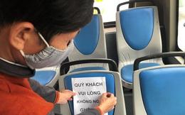 Xe buýt Thủ đô phòng dịch thế nào trong ngày đầu hoạt động?