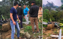 [NÓNG] Ô tô con va chạm với xe máy rồi lao xuống vực ở Tam Đảo, 4 người tử vong