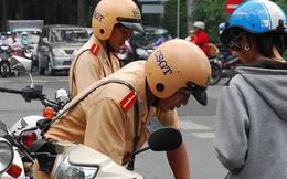 Người tham gia giao thông mắc lỗi gì thì được nộp tiền phạt trực tiếp cho Cảnh sát giao thông?