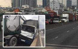 TP.HCM: Xảy ra 3 vụ tai nạn liên tiếp trên cầu Phú Mỹ, giao thông tê liệt từ trưa đến chiều