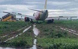 Máy bay trượt khỏi đường băng ở Tân Sơn Nhất khi hạ cánh do mưa gió lớn