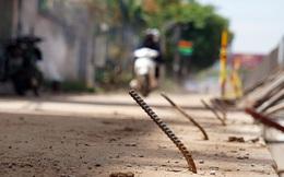 Bẫy 'chông sắt' trên đường đê An Dương Vương - Hà Nội