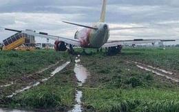 Máy bay trượt khỏi đường băng Tân Sơn Nhất: Vietjet lên tiếng xin lỗi