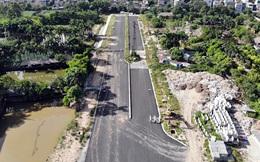 Nhìn gần con đường 'nghìn tỷ' ở trung tâm Hà Nội sau hai năm làm được vài trăm mét