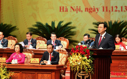 497/497 đại biểu dự Đại hội giới thiệu ông Vương Đình Huệ tái đắc cử chức Bí thư Thành ủy Hà Nội