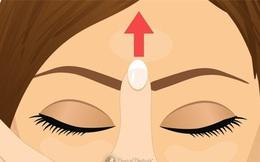 """""""Con mắt thứ 3"""" và """"bí mật"""" đánh bay mọi cơn đau đầu, mệt mỏi chỉ với động tác day bấm đơn giản"""