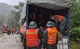 Đoàn cứu hộ gặp sạt lở đất, nhiều cán bộ, chiến sĩ bị mất liên lạc khi tiếp cận thuỷ điện Rào Trăng 3