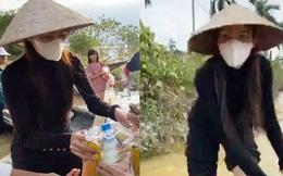 Tin vui nhất sáng nay: Thuỷ Tiên đã kêu gọi được 22 tỷ đồng sau 2 ngày, cảnh thân mảnh mai lội nước cứu trợ bà con miền Trung gây xúc động!